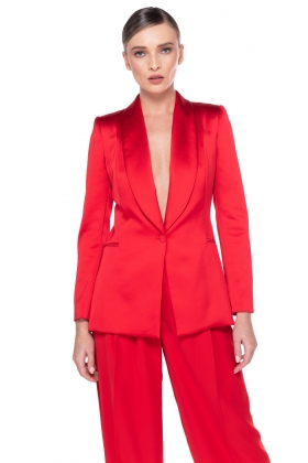 RED SHAWL BLAZER