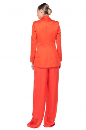 ORANGE SUPER WIDE-LET PANTS WITH HIGH WAIST