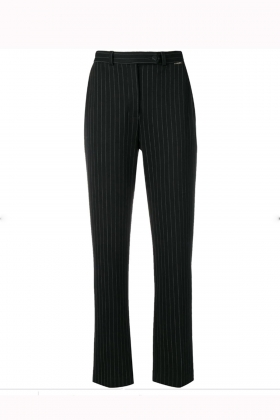 BLACK STIPED TROUSERS