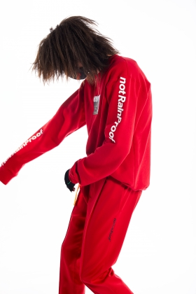 notRainProof RED SWEATSHIRT