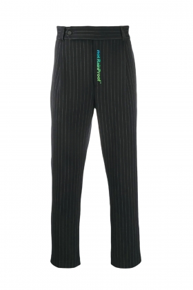 notRainProof BLACK TAILORED PINSTRIPE TROUSERS