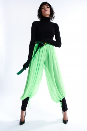 GREEN SEE THROUGH PANTS
