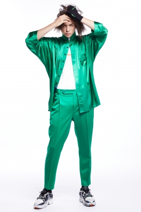notRainProof GREEN TROUSERS