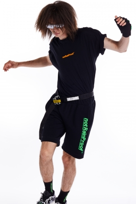 notRainProof BLACK TRACK SHORTS
