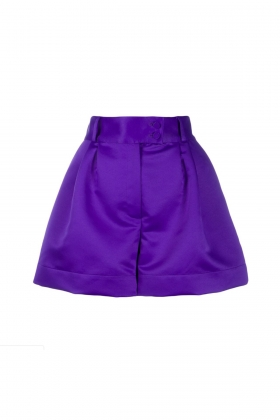 PURPLE SATIN SHORTS