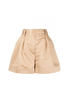 NUDE SATIN SHORTS