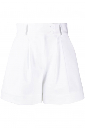 WHITE ORGANIC COTTON SHORTS