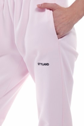 PINK ORGANIC COTTON SWEAT PANTS
