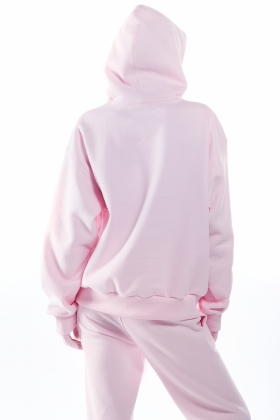 PINK notRainProof Hoddie MINIMUM WASTE ( unisex item )