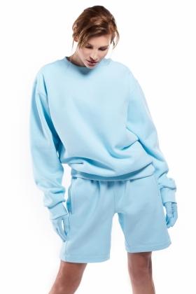 PARAIBA BLUE OVERSIZED CREWNECK ( unisex item )