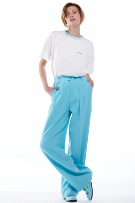 PARAIBA BLUE WIDE LEG TROUSERS