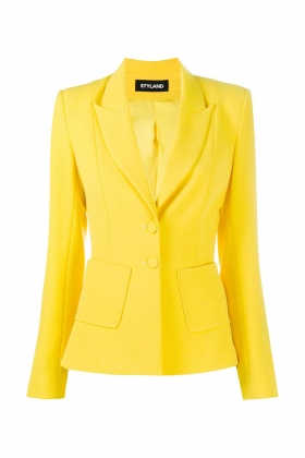 SLIM FIT YELLOW BLAZER