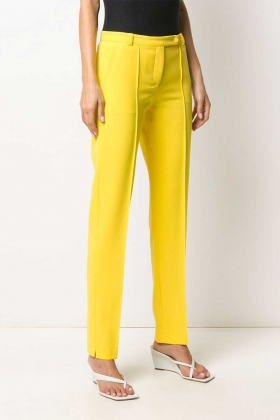 YELLOW TAILORED TROUSERS