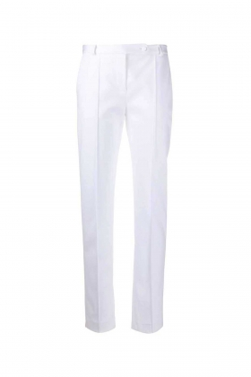 ORGANIC COTTON WHITE TAILORED TROUSERS