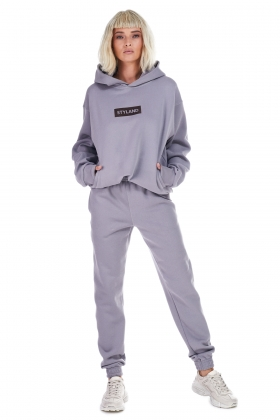 DARK GRAY ORGANIC COTTON HOODIE (unisex item )