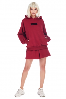 RIO RED ORGANIC COTTON HOODIE (unisex item )