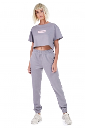 DARK GRAY TRACK PANTS ( unisex item )