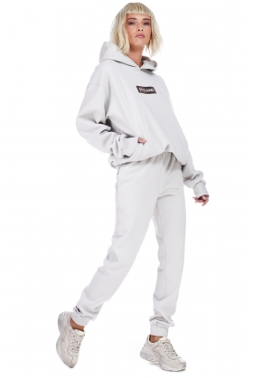LIGHT GRAY TRACK PANTS ( unisex item )