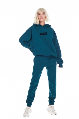 DARK GREEN TRACK PANTS ( unisex item )