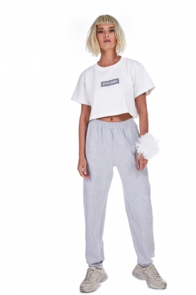 STYLAND LOGO BOX CROP TOP