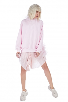 STYLAND CRYSTAL PINK ORGANIC COTTON SWEATSHIRT