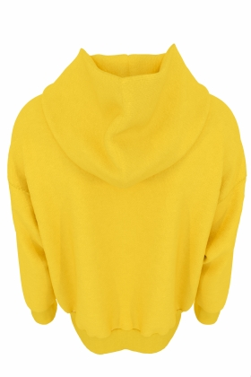 YELLOW HOODIE ORGANIC COTTON WITH PRINT