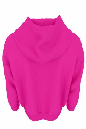 PINK HOODIE ORGANIC COTTON WITH PRINT