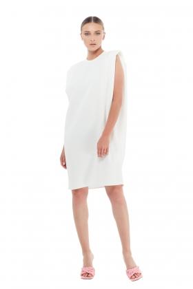 PADDED-SHOULDER DRESS
